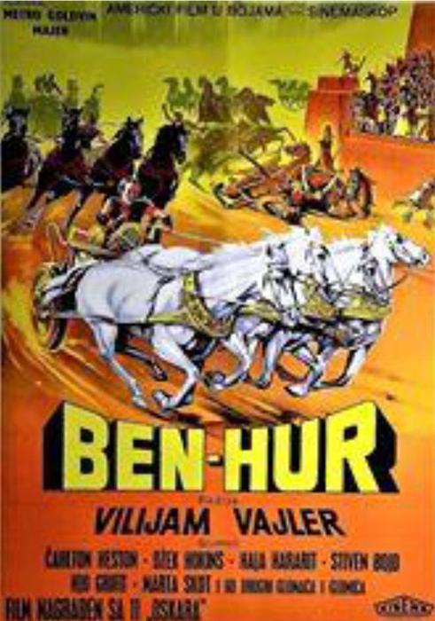 """Plakat za filmski spektakl """"Ben Hur"""""""