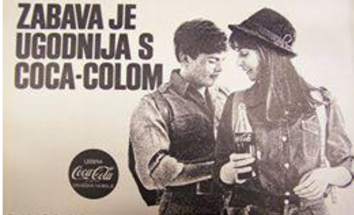 Plakat iz reklamne kampanje za Koka Kolu 1968.