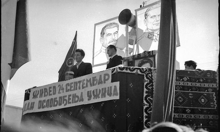 Sa prve proslave oslobođenja Užica