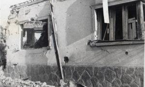 Prohorova kuća posle bombardovanja.