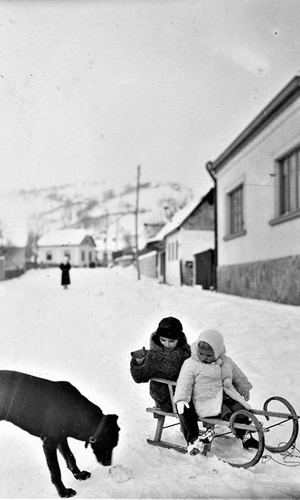 Ulica Prestolonaslednikova je svojim blagim padom bila idealna za sankanje za manju decu