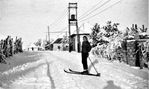Skije su služile za lakše kretanje po zavejanom Zlatiboru