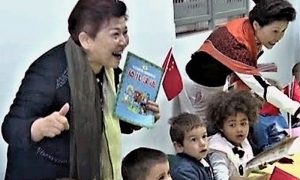 Mama Vong sa decom u istoimenom vrtiću na Pori.