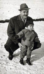 Panto Zubac sa ćerkicom Danijelom