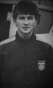 Mladi Dragomir Žunić sa državnim grbom na grudima