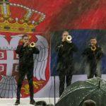 Dejan Petrović je na početku slavlja osvirao himnu
