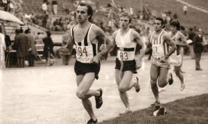 Šamu Josip, Slavko Kuzmanović (183) Dane Korica na takmičenju u Skoplju trka na 10.000 metara