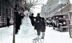 Zima 1938. godine u BG desno taksi stanica Todorovića