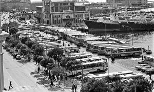 Autobusi iz SFRJ parkirani na Ponte rosu