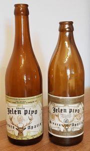 Levo je primerak boce koja se koristila do početka sedamdesetih, a desno čuvena zidarska flaša iz 1975. godine