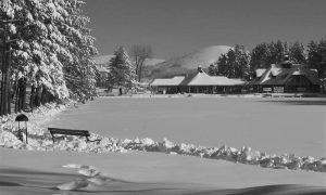 . Jezero na Zlatiboru zimi, nekada