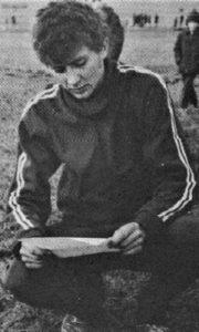 Mladi atletičar Dragomir Žunić Žuna.