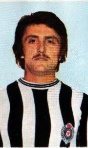 Antara sa brčićima 1974. godina u dresu Partizana