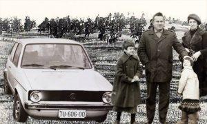 Prvi užički Golf i Đorđe Lazović sa porodicom