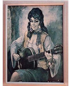 """Omiljena slika """"Ciganka sa gitarom"""" uočljiva u mnogim užičkim kućama i stanovima sedamdesetih"""