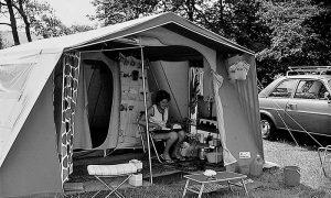 Šator u kome je kampovala porodica Vlajka Kovačevića